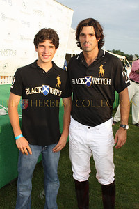 Justin Pierce Galloway and Nacho Figueras in matching polo shirts