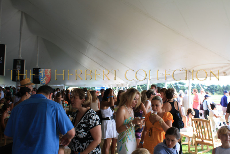 Inside the VIP tent