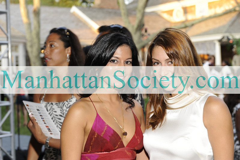 EAST HAMPTON-JULY 18: Monica Chandra, Shamin Abas attend Rush Philanthropic Arts Foundation's 10th Anniversary ART FOR LIFE Benefit on Saturday, July 18, 2009 at Russell Simmons' East Hampton Estate, East Hampton, New York (Photo Credit: ManhattanSociety.com by Gregory Partanio)
