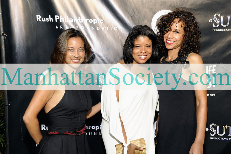 EAST HAMPTON-JULY 18: Gabrielle Glore, Ms. Cooley, Nicole Payseur attend Rush Philanthropic Arts Foundation's 10th Anniversary ART FOR LIFE Benefit on Saturday, July 18, 2009 at Russell Simmons' East Hampton Estate, East Hampton, New York (Photo Credit: ManhattanSociety.com by Gregory Partanio)