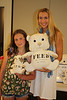 Alana Morgan Galloway and Nicole Gabona with Nut and Plumpy the FEED Bears