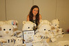 Alana Morgan Galloway surrounded by FEED bears