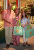 Stewart, Bonnie and Leah Lane outside Tory Burch's East Hampton store with their 'loot'