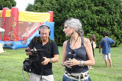 Lauren Ezersky and camera man covering event