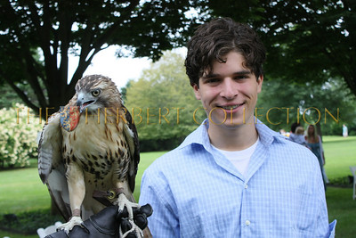Red tailed hawk and Justin Pierce Galloway