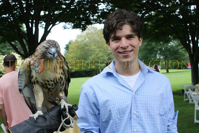 Justin Pierce Galloway and red tailed hawk