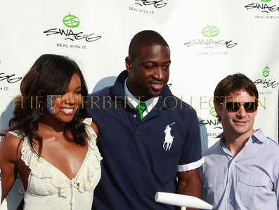 Gabrielle Union, Dwyane Wade and Jeff Gordon