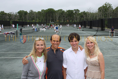 Bonnie Pfeifer Evans, Michael Milken, Justin Pierce Galloway and Sara Herbert-Galloway