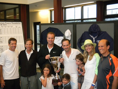 Jimmy Areas, Dick Merkin, Rick Leach, Rodney Propp & kids, Bonnie Pfeifer Evans & Mike Milken ( Founder PCF)