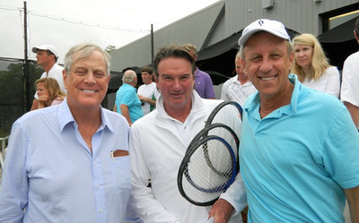 David Koch and forever favorites Jimmy Connors and David Schneider,   Photo from Bonnie Pfeifer Evans