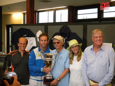 Mike Milken, Paul Henley (currently ranked #4 in the world doubles), Joel Pashcow, Bonnie Pfeifer Evans & David Koch