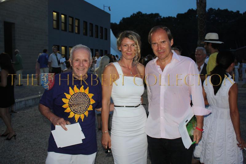 Daniela Zahradnikova, Henry Buhl and Simon de Pury