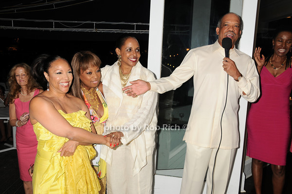 Lynn Whitfield, Star Jones, Wanda Brown, Ewart Brown<br /> photo by Rob Rich © 2010 robwayne1@aol.com 516-676-3939