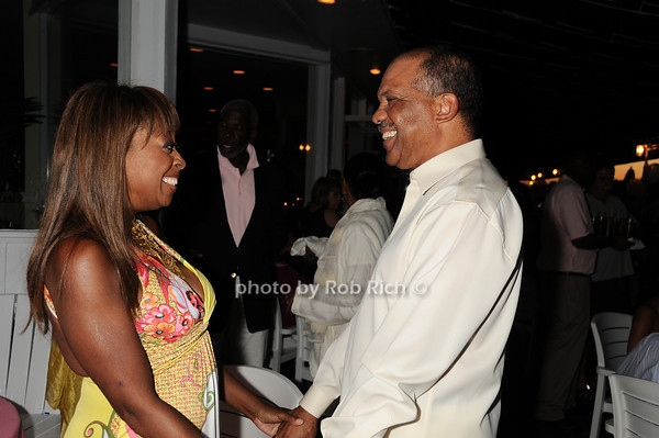 Star Jones,  Premier Ewart Brown<br /> photo by Rob Rich © 2010 robwayne1@aol.com 516-676-3939