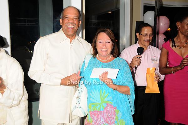 Ewart Brown, Nancy Haynes<br /> photo by Rob Rich © 2010 robwayne1@aol.com 516-676-3939