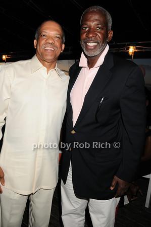 Premier of Bermuda Ewart Brown, Dan Gasby<br /> photo by Rob Rich © 2010 robwayne1@aol.com 516-676-3939