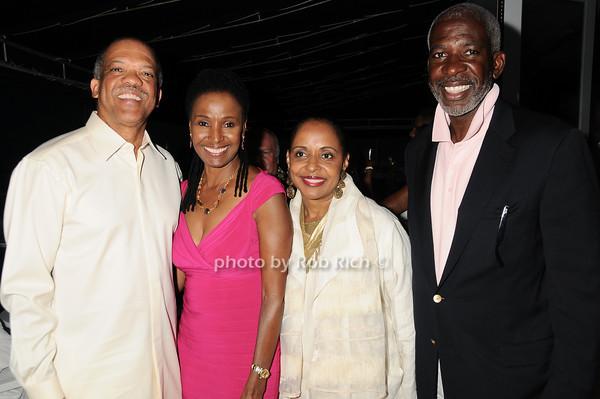 Premier Ewart Brown, B.Smith, Wanda Brown, Dan Gasby<br /> photo by Rob Rich © 2010 robwayne1@aol.com 516-676-3939