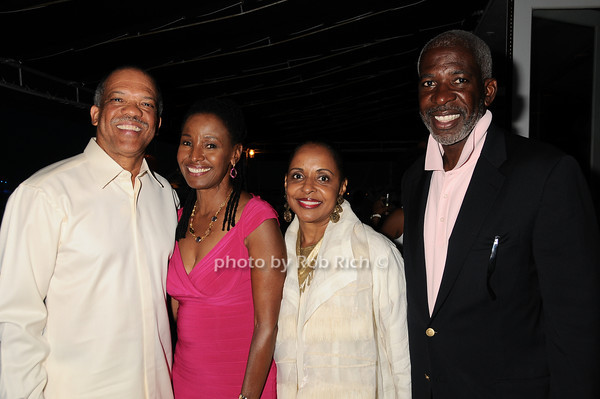 Premier Ewart Brown, B.Smith, Wanda Brown, Dan Gasby<br /> photo by Rob Rich © 2010 robwayne1@aol.com 516-676-3939