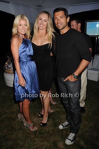 Kelly Ripa, Mary Rivas, Mark Consuelos photo by Rob Rich © 2010 robwayne1@aol.com 516-676-3939