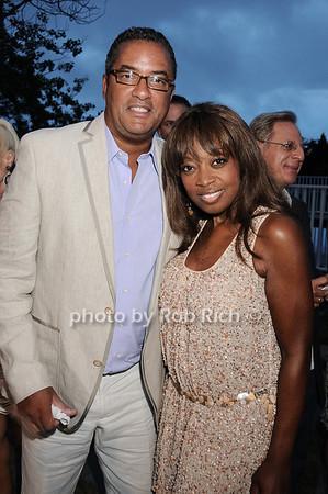 Herb Wilson, Star Jones photo by Rob Rich © 2010 robwayne1@aol.com 516-676-3939