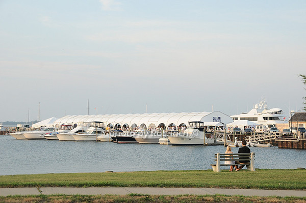 "View from a distance of  the Baystreet Theatre ""Rock the Dock"" Summer Gala Benefit on Long Wharf in Sag Harbor on July 17, 2010.photo by Rob Rich/SocietyAllure.com"