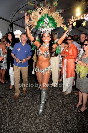 "Brasilian dancer performs at the Baystreet Theatre ""Rock the Dock"" Summer Gala Benefit on Long Wharf in Sag Harbor on July 17, 2010.photo by Rob Rich/SocietyAllure.com"