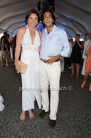 "Countess Luann de Lesseps, Jacques Azoulay at the Baystreet Theatre ""Rock the Dock"" Summer Gala Benefit on Long Wharf in Sag Harbor on July 17, 2010.photo by Rob Rich/SocietyAllure.com"