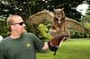 Dennis Fleury, Kilalla (Great Horned Owl)<br /> photo by Rob Rich © 2010 robwayne1@aol.com 516-676-3939