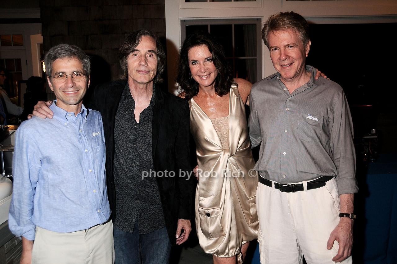 James Simon, Jackson Browne, Lois Robbins, Keith Addis photo by Rob Rich © 2010 robwayne1@aol.com 516-676-3939