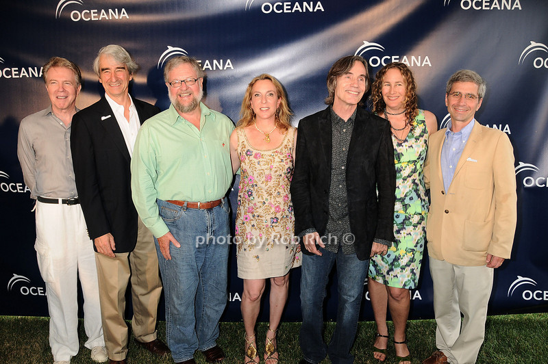 Keith Addis, Sam Waterston, Lois Robbins, David Rockefeller, Sue Cohn Rockefeller, Jackson Browne, Dianna Cohen, James Simon