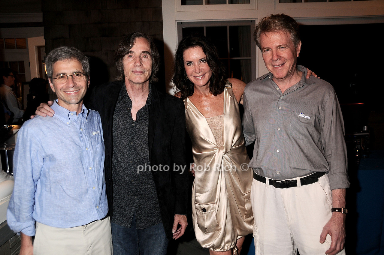 James Simon, Jackson Browne, Lois Robbins, Keith Addis