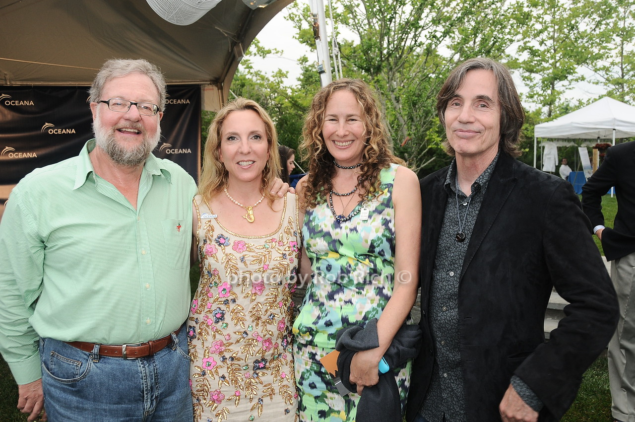 David Rockefeller, Sue Cohn Rockefeller, Dianna Cohen, Jackson Browne