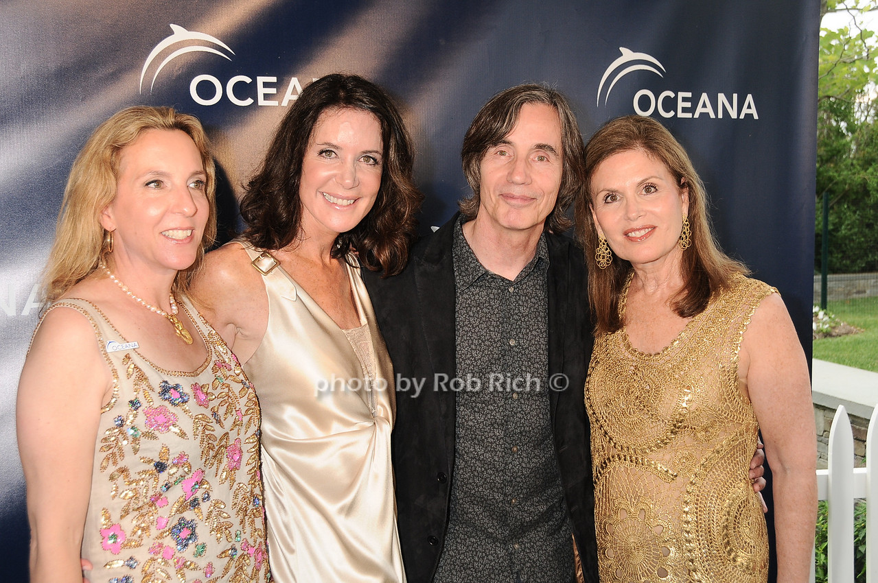 Sue Cohn Rockefeller,Lois Robbins, Jackson Browne, Bonnie Lautenberg