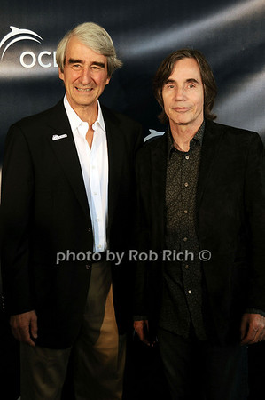 Sam Waterston and Jackson Browne at the Oceana fundraiser in Watermill on July 10, 2010. photo by Rob Rich/SocietyAllure.com