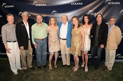 Keith Addis,Sam Waterston, David Rockefeller, Sue Cohn Rockefeller, Senator Frank Lautenberg, Bonnie Lautenberg, Lois Robbins, Jackson Browne, James Simon at the Oceana fundraiser in Watermill on July 10, 2010. photo by Rob Rich/SocietyAllure.com