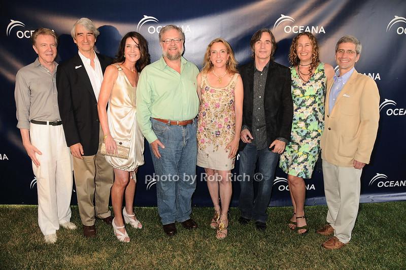 Keith Addis, Sam Waterston, Lois Robbins, David Rockefeller, Sue Cohn Rockefeller, Jackson Browne, Dianna Cohen, James Simon