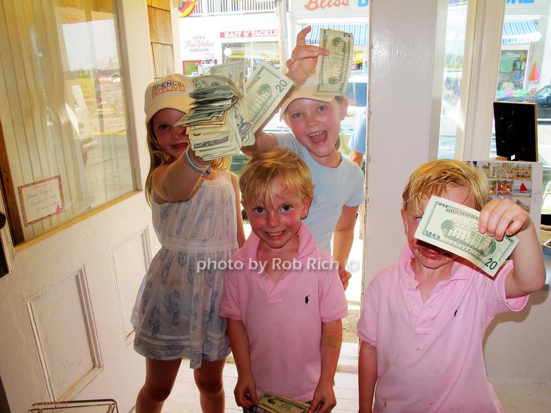 members of the kids kick in committee raised $403. dollars