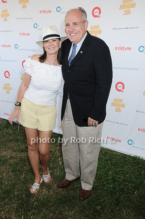 Judith Giuliani, Rudy Giuliani attend Super Saturday 13 to benefit the Ovarian Cancer Research Fund @ Nova's Ark Project in Water Mill. on July 31,2010. photo by Rob Rich/SocietyAllure.com