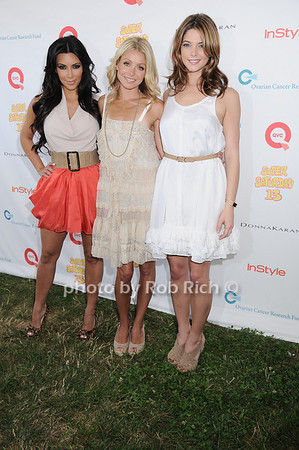Kim Khardashian, Kelly Ripa, and Ashley Greene attend Super Saturday 13 to benefit the Ovarian Cancer Research Fund @ Nova's Ark Project in Water Mill. on July 31,2010. photo by Rob Rich/SocietyAllure.com