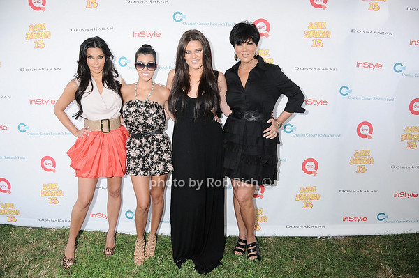 Kim Khardashian,Kourtney Khardashian, Chloe Khardashian, and Kim Khardashian attend the Super Saturday 13 to benefit the Ovarian Cancer Research Fund @ Nova's Ark Project in Water Mill. on July 31,2010. photo by Rob Rich/SocietyAllure.com