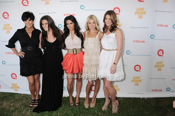 Kris Khardashian, Khloe Khardashian, Kim Khardashian, Kelly Ripa, Ashlee Greene<br /> photo by Rob Rich © 2010 robwayne1@aol.com 516-676-3939