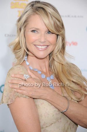 Christy Brinkley shows off her jewelry designs at Super Saturday 13 to benefit the Ovarian Cancer Research Fund @ Nova's Ark Project in Water Mill. on July 31,2010. photo by Rob Rich/SocietyAllure.com
