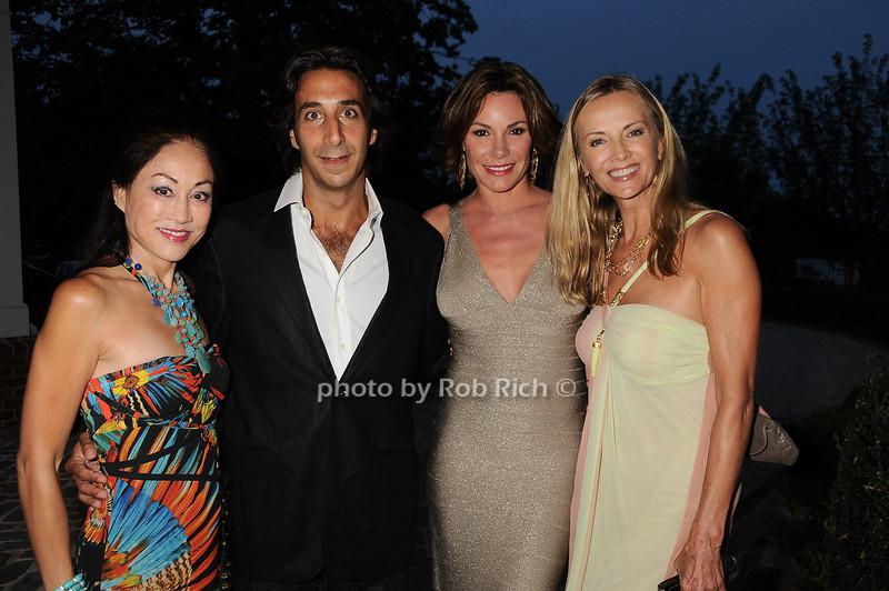 Lucia Hwong Gordon, Jacques Azoulay, Countess Luann de<br /> Lesseps, Bonnie Pfieffer<br /> photo by Rob Rich © 2010 robwayne1@aol.com 516-676-3939