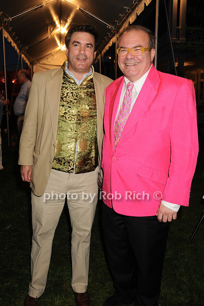 Jeff Slonim, Hunt Slonem<br /> photo by Rob Rich © 2010 robwayne1@aol.com 516-676-3939