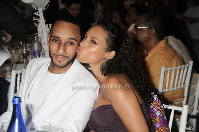 Swiss Beatz and Alicia Keys attend the Art for Life 2010 gala at the estate of Russell Simmons in East Hampton on July 24, 2010. photo by Rob Rich/SocietyAllure.com