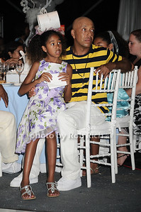 Daugher Aoki Lee Simmons with Russell Simmons   attend the Art for Life 2010 gala at the estate of Russell Simmons in East Hampton on July 24, 2010. photo by Rob Rich/SocietyAllure.com