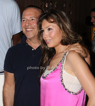 Tommy Mottola and Thalia attend the Art for Life 2010 gala at the estate of Russell Simmons in East Hampton on July 24, 2010. photo by Rob Rich/SocietyAllure.com