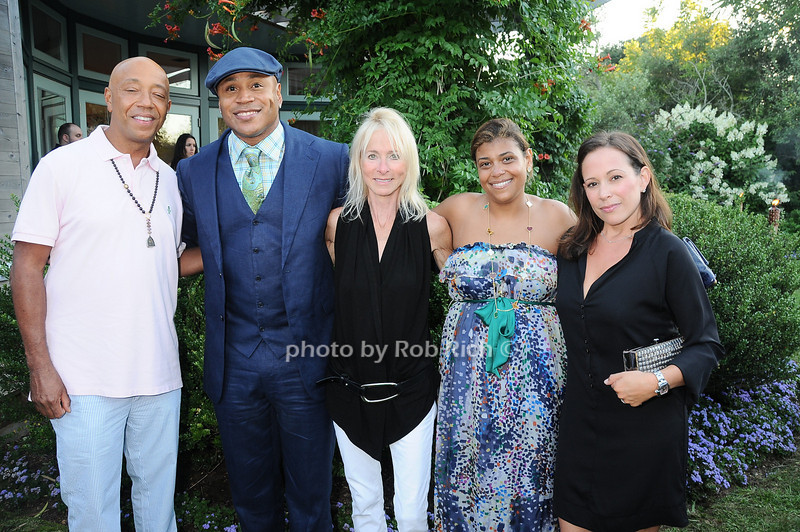 Russell Simmons, L.L.Cool J, Linda Shapiro,Claudine Joseph, and Robin Katz Boyarsky <br /> photo by Rob Rich © 2010 robwayne1@aol.com 516-676-3939