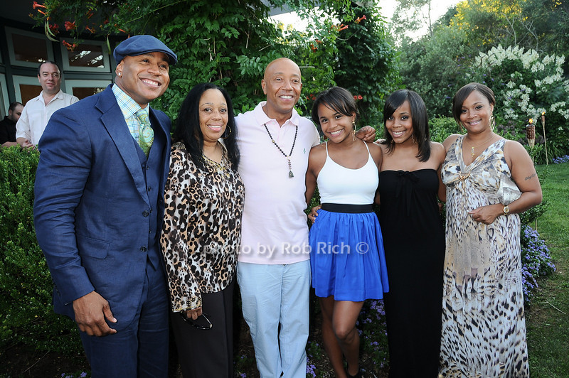L.L.Cool J with family and Russell Simmons 
