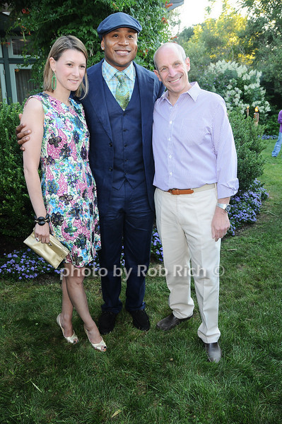 Lizzie Tisch, L.L.Cool J , Jonathan Tisch<br /> photo by Rob Rich © 2010 robwayne1@aol.com 516-676-3939